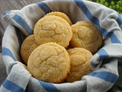 corn muffins arranged in a bowl